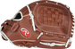 Thumb view of a brown R9SB120-3DB R9 Series 12-inch fastpitch pitcher/infield glove with a brown Basket web image number null