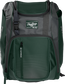 Front of a dark green Franchise baseball backpack with gray accents and a dark green Rawlings patch - SKU: FRANBP-DG image number null