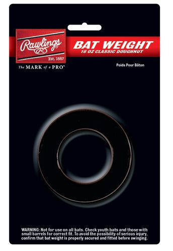 Rawlings Back Doughnut Bat Weight SKU #BW16