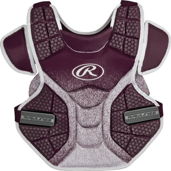 Velo Intermediate Softball Chest Protector Maroon