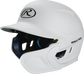 Left angle view of a matte white MACHEXTR Mach Junior helmet with Mach EXT right hand batter face guard extension image number null