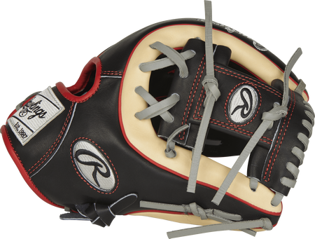Thumb view of a PROR314-2B 11.5-inch Heart of the Hide R2G infield glove with a black I web