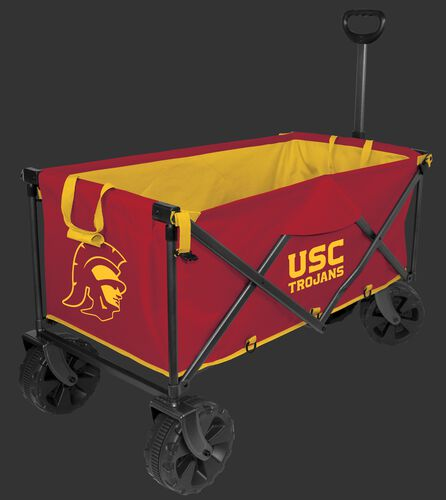 A red NCAA USC Trojans wagon with team logos on the sides - SKU: 00943100519