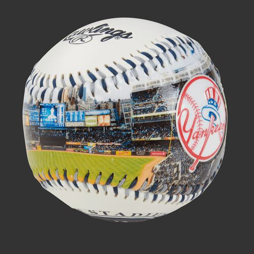 Stadium picture of a New York Yankees stadium baseball