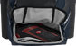A navy Rawlings baseball backpack with a cleat in the bottom cleat storage compartment - SKU: IMPLSE-N image number null