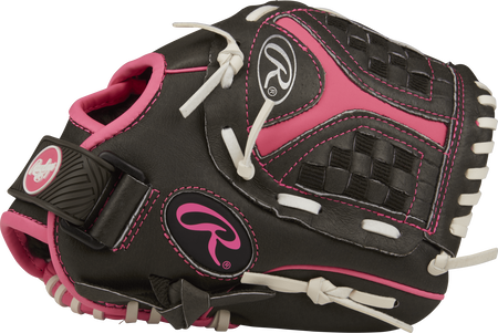 ST1000FPP Storm 10-inch infield glove with a black thumb and black/pink Funnel web