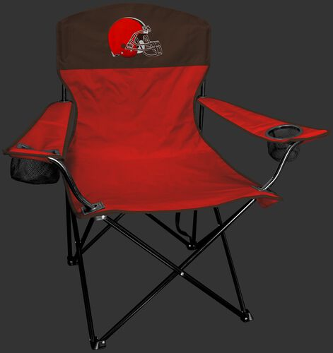 Front of Rawlings Brown and Orange NFL Cleveland Browns Lineman Chair With Team Logo SKU #31021064111