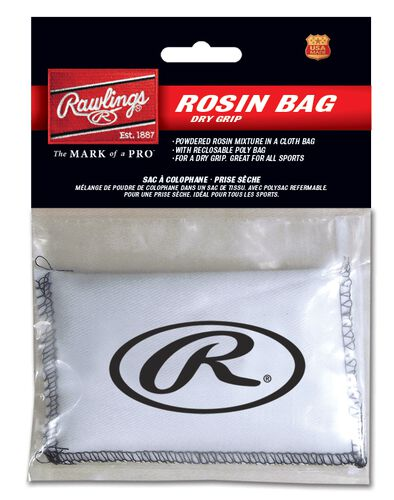 Rawlings White Rosin Bag With Brand Logo SKU #ROS
