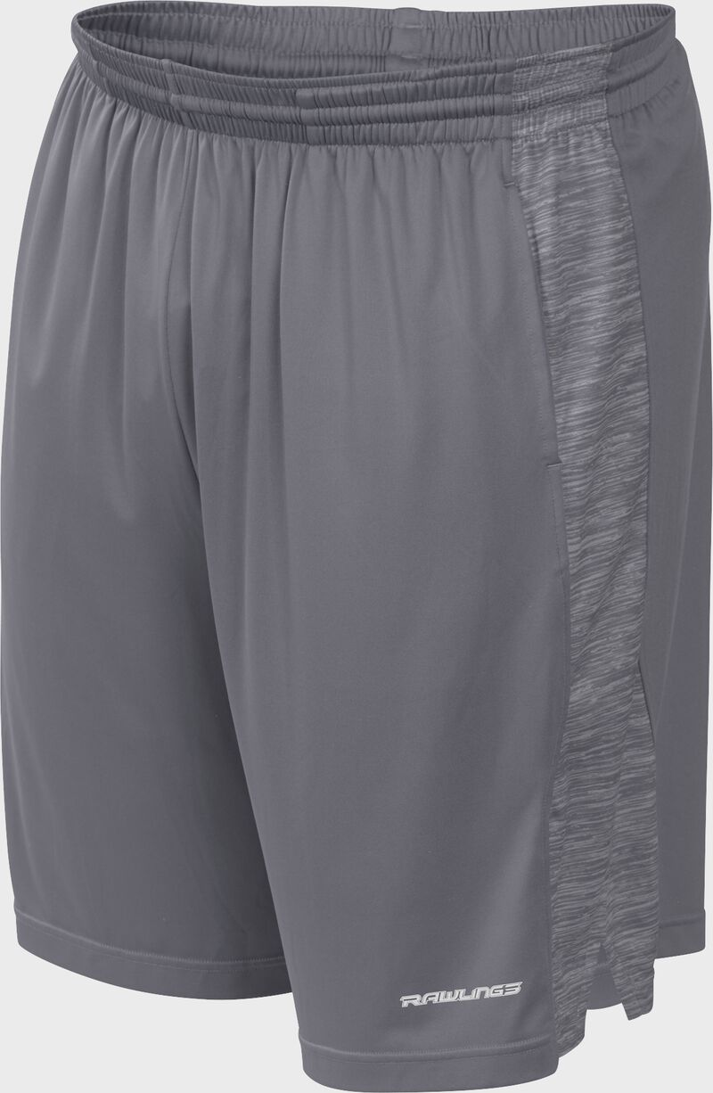 Front of Rawlings Gray Youth Launch Training Shorts - SKU #YLS9