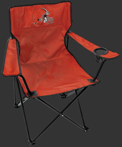 Front of Rawlings Orange NFL Cleveland Browns Gameday Elite Chair With Team Logo SKU #00551064111