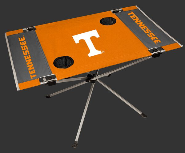NCAA Tennessee Volunteers Endzone table featuring team logos, team colors and has two cup holders SKU #04053101111