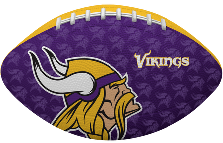 Purple side of a NFL Minnesota Vikings Gridiron football with the team logo