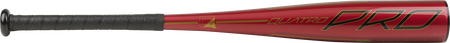 Barrel of a red UTZQ11 2020 Quatro Pro USSSA bat with black/gold accents