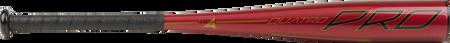 Barrel of a red UTZQ11 2020 Quatro Pro USSSA bat with black/gold accents