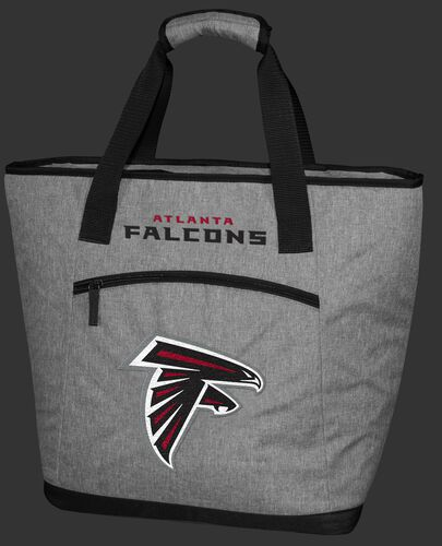 A gray Atlanta Falcons 30 can tote cooler with a team logo embroidered on the front - SKU: 10311060111