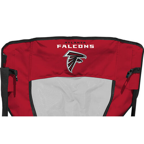 Back of Rawlings Red and Black NFL Atlanta Falcons High Back Chair With Team Name SKU #09211060518