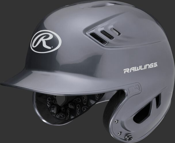 A metallic silver R16S Velo senior batting helmet with Cool-Flo vents