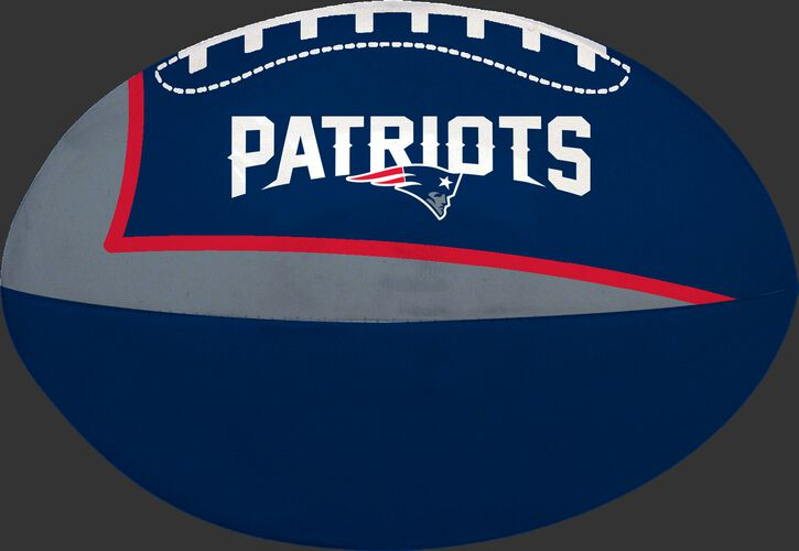Navy and Grey NFL New England Patriots Football With Team Name SKU #07831076114
