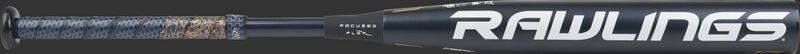 FPZP10 Quatro Pro fastpitch bat with a black barrel and white Rawlings logo