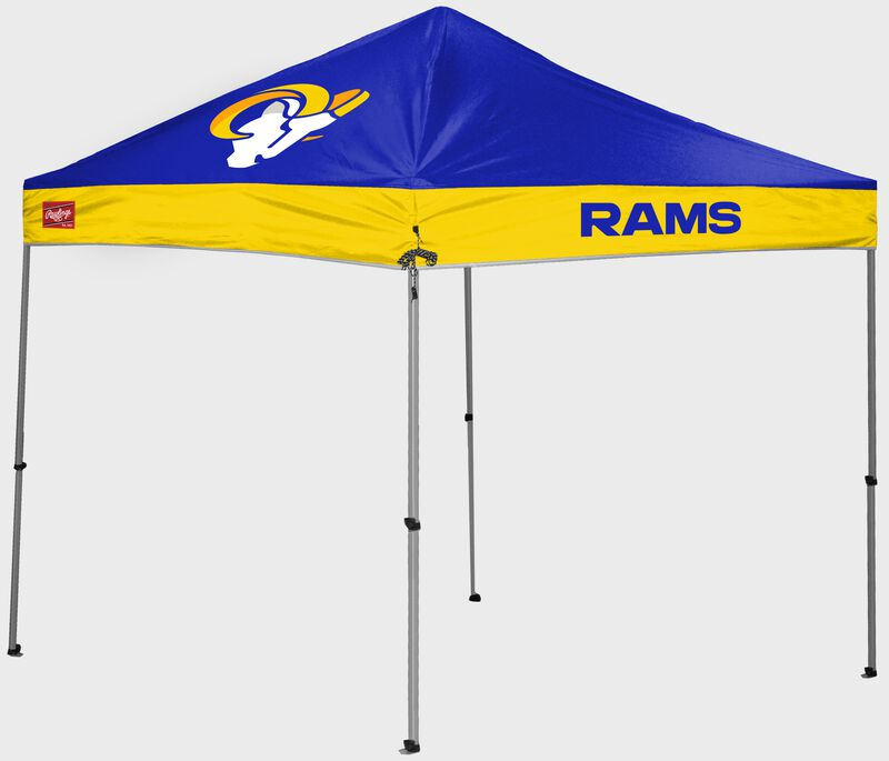 A Los Angeles Rams 9'x9' straight leg canopy