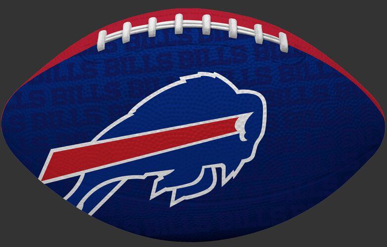 Blue side of a NFL Buffalo Bills Gridiron football with the team logo SKU #09501061121
