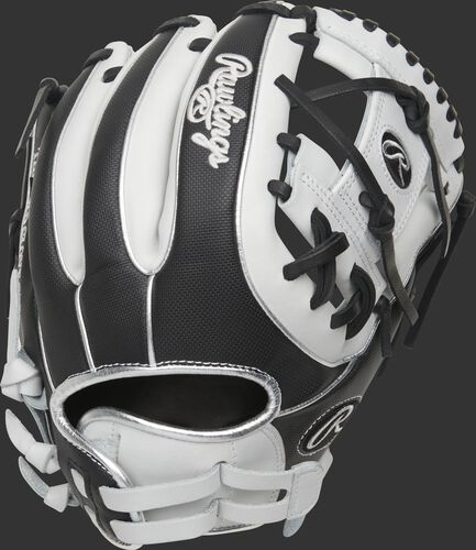 Black Speed Shell back of a Heart of the Hide I-web softball glove with an adjustable pull-strap - SKU: PRO715SB-2WSS