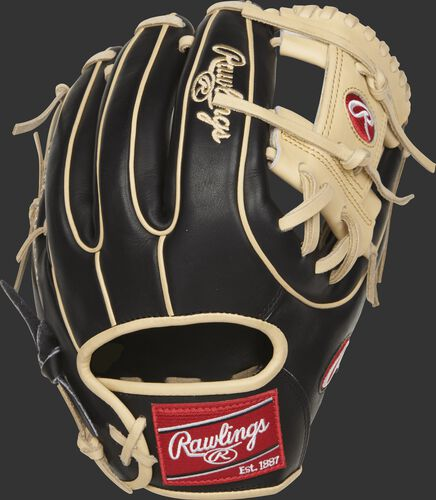 PROR314-2BC Heart of the Hide R2G glove with a black back and camel double-welting