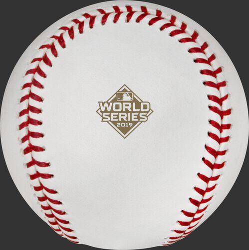 Official 2019 MLB World Series logo on the dueling teams baseball WSBB19DL