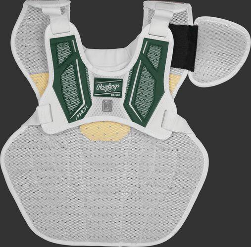 Back harness of a dark green CMPCNI Intermediate Mach chest protector