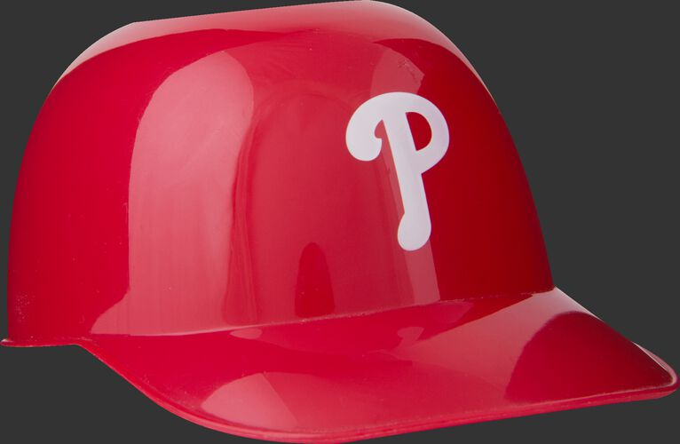 Front of Rawlings Red MLB Philadelphia Phillies Snack Size Helmets With Team Logo SKU #01950020121