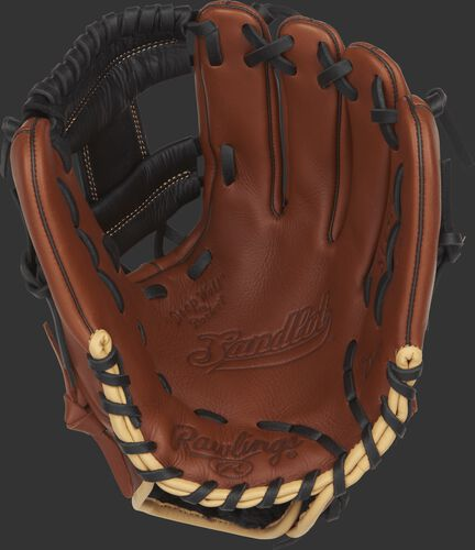 S1150I Rawlings 11.5-inch Sandlot Series baseball glove with a brown palm and black laces