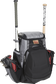 Front right of a black/gray R1000 Gold Glove Series baseball backpack with two bats and cleats image number null