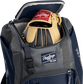 A Rawlings baseball glove in the top compartment of a Franchise baseball backpack - SKU: FRANBP-N image number null