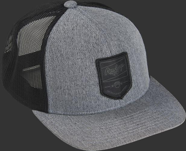 RWWPH Rawlings gray/black snapback mesh hat with a black logo