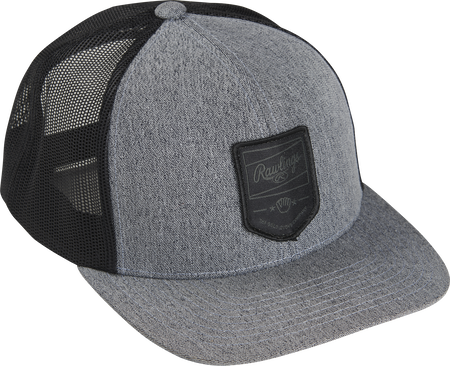 RWWPH Rawlings gray/black snapback mesh hat with a black logo