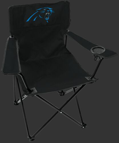 Front of Rawlings Black NFL Carolina Panthers Gameday Elite Chair With Team Logo SKU #00551090111