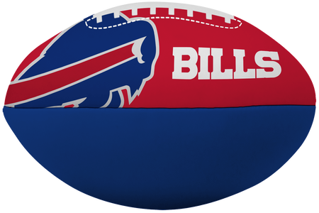 NFL Buffalo Bills Big Boy softee football in team colors with team logos