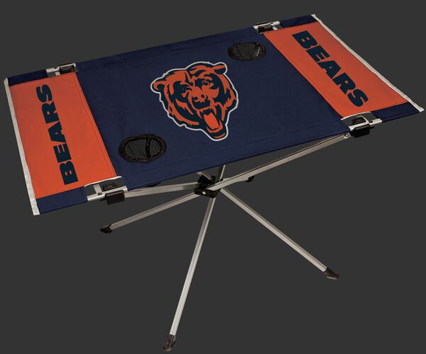 Rawlings Navy and Orange NFL Chicago Bears Endzone Table With Two Cup Holders, Team Logo, and Team Name SKU #03391062111