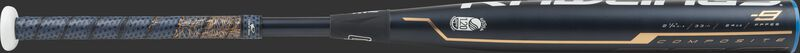 FPPE9 Rawlings fastpitch softball bat with a navy barrel and rose gold accents