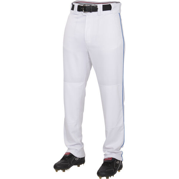 Youth Semi-Relaxed Piped Pant White/Royal