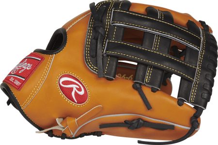 Thumb view of a PRO206-6JTB Heart of the Hide 12-inch glove with a black H web
