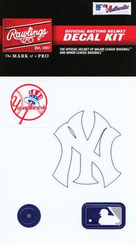 Rawlings MLB New York Yankees Decal Kit With Team Logos and MLB Logo SKU #MLBDC-NYY
