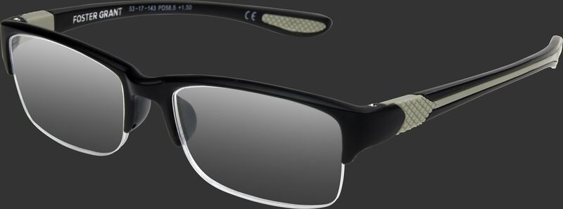 Rawlings half frame reading glasses with a black/grey frame