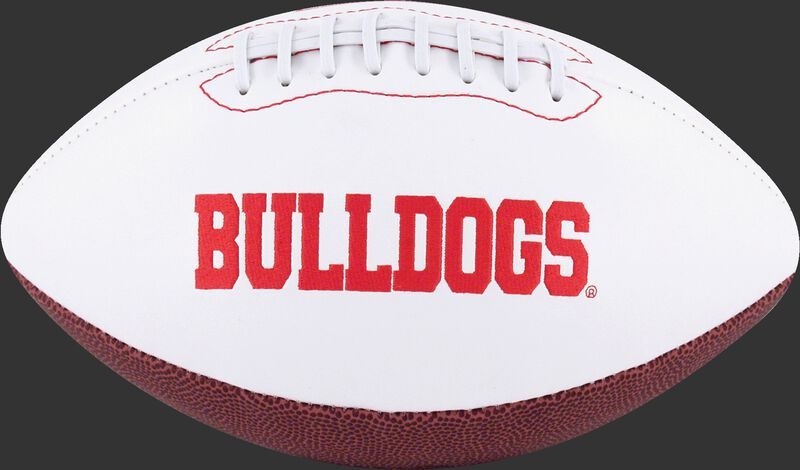 White NCAA Georgian Bulldogs Football With Team Name SKU #05733073121