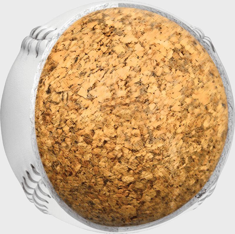 Inside cork of a C120WASA K-Master 12-inch softball