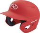 Left angle view of a Rawlings MACH Junior helmet with a one-tone matte scarlet shell