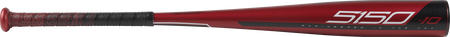 Barrel of a US9510 2019 5150 USA baseball bat with a red barrel and white/black accents
