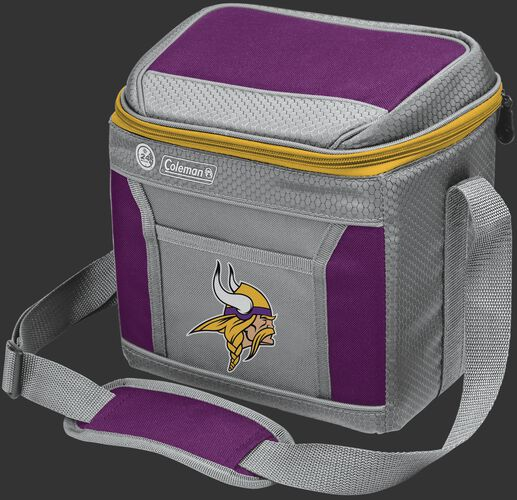 Rawlings Minnesota Vikings 9 Can Cooler In Team Colors With Team Logo On Front SKU #03281075111