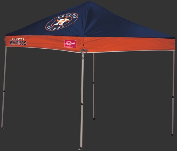 Rawlings Navy and Orange MLB Houston Astros 9x9 Canopy Shelter With Team Logo and Name SKU #06250002111