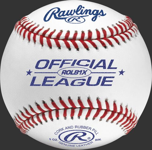 ROLB1X Official league practice baseball with raised seams